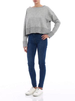 Golden Goose: Sweatshirts & Sweaters online - Rosina melange crop sweatshirt