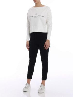 Golden Goose: Sweatshirts & Sweaters online - Sissi crop white sweatshirt