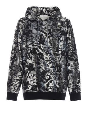 Golden Goose: Sweatshirts & Sweaters - Philip printed cotton hoodie
