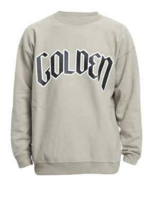 Golden Goose: Sweatshirts & Sweaters - Printed logo cotton sweatshirt