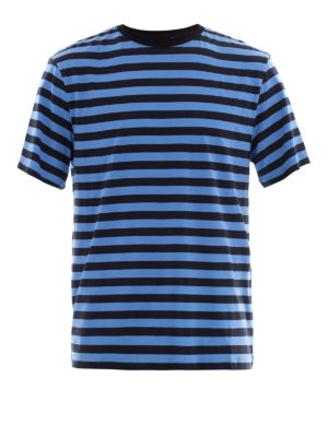 Golden Goose: t-shirts - Bicolour striped cotton T-shirt