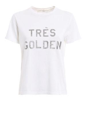 Golden Goose: t-shirts - Cindy glittered print T-shirt