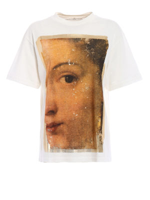 Golden Goose: t-shirts - Classic painting cotton T-shirt