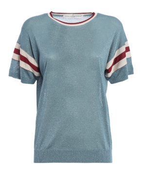Golden Goose: t-shirts - Claudine lurex jersey Tee