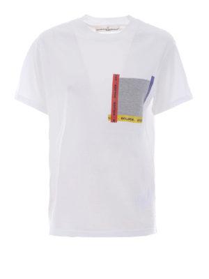 Golden Goose: t-shirts - Golden patch pocket T-shirt