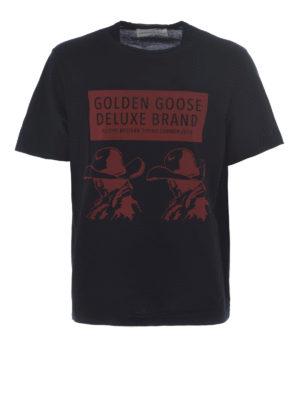 Golden Goose: t-shirts - Golden printed T-shirt