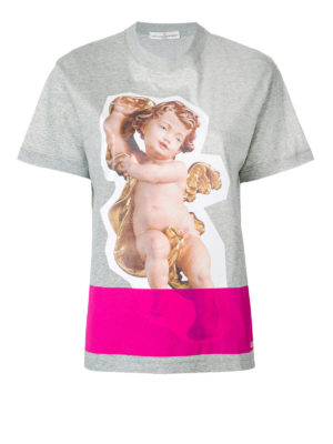 GOLDEN GOOSE: t-shirt - T-shirt Golden con stampa putto
