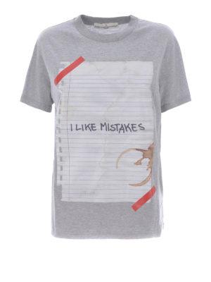 Golden Goose: t-shirts - Golden sheet of paper print Tee