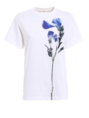 Golden Goose: t-shirts - Golden Tee with blue flower print