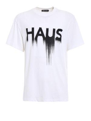 Golden Goose: t-shirts - Haus print T-shirt