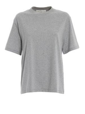 GOLDEN GOOSE: t-shirt - T-shirt Leo con stampa telefono dietro
