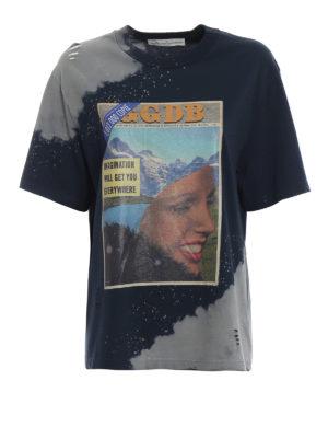 GOLDEN GOOSE: t-shirt - T-shirt Leo con stampa settimanale vintage