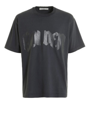 Golden Goose: t-shirts - Logo print cotton T-shirt