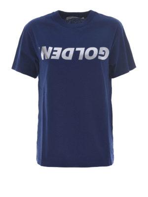 Golden Goose: t-shirts - Metallic logo print T-shirt