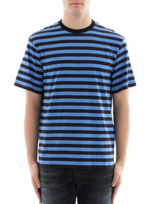 Golden Goose: t-shirts online - Bicolour striped cotton T-shirt