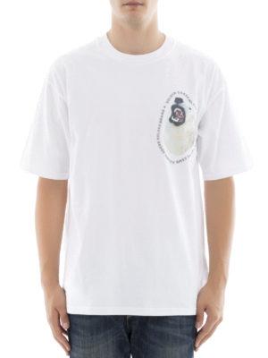 Golden Goose: t-shirts online - Chest logo lettering cotton T-shirt