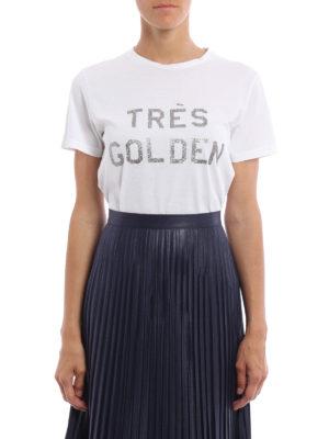 Golden Goose: t-shirts online - Cindy glittered print T-shirt