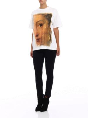 Golden Goose: t-shirts online - Classic painting cotton T-shirt