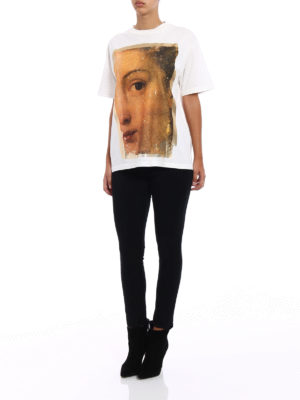 Golden Goose: t-shirts online - Classic painting cotton T-shirt