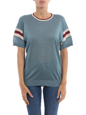 Golden Goose: t-shirts online - Claudine lurex jersey Tee