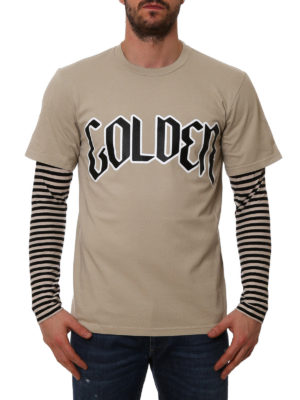 Golden Goose: t-shirts online - Double T-shirt with maxi logo