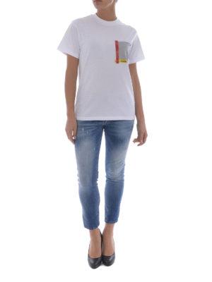 Golden Goose: t-shirts online - Golden patch pocket T-shirt