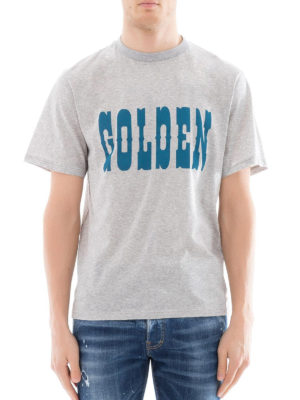 Golden Goose: t-shirts online - Golden print grey T-shirt