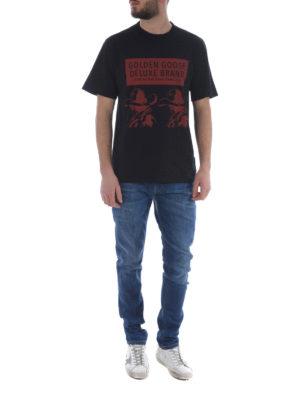 Golden Goose: t-shirts online - Golden printed T-shirt
