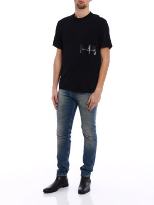 Golden Goose: t-shirts online - Golden rubberized print T-shirt