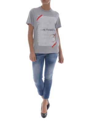 Golden Goose: t-shirts online - Golden sheet of paper print Tee