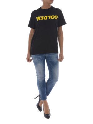 Golden Goose: t-shirts online - Golden T-shirt with yellow print