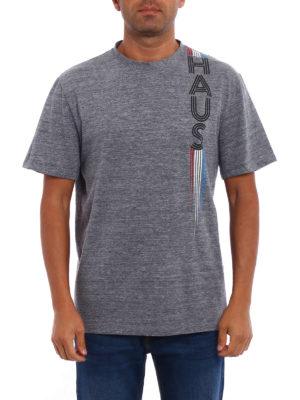 Golden Goose: t-shirts online - Haus print melange T-shirt