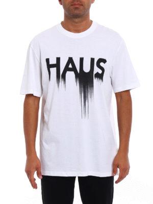 Golden Goose: t-shirts online - Haus print T-shirt
