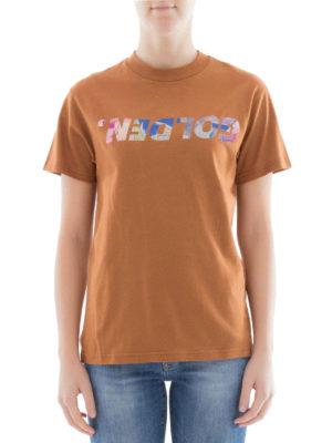 Golden Goose: t-shirts online - Logo print cotton T-shirt
