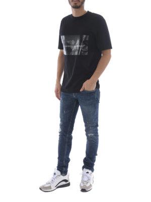 Golden Goose: t-shirts online - Logo print panelled T-shirt