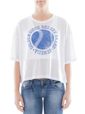 Golden Goose: t-shirts online - Openwork cotton T-shirt