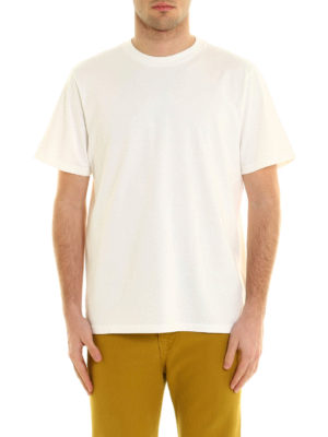 Golden Goose: t-shirts online - Rear print cotton T-shirt