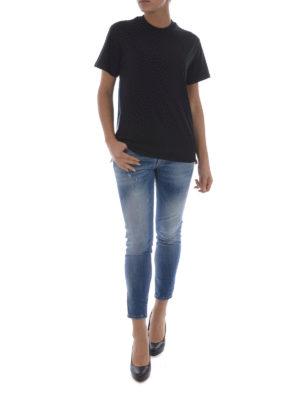 Golden Goose: t-shirts online - Side multicolour zip T-shirt