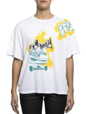 Golden Goose: t-shirts online - Skateboard print jersey T-shirt