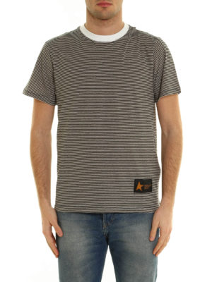 Golden Goose: t-shirts online - Striped cotton T-shirt