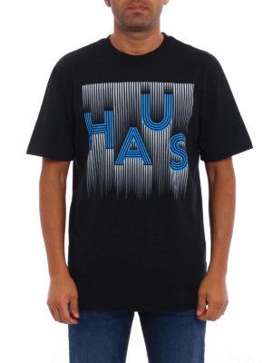Golden Goose: t-shirts online - Striped Haus print T-shirt