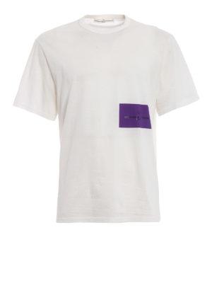 Golden Goose: t-shirts - Purple logo print cotton T-shirt