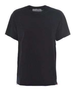 Golden Goose: t-shirts - Side multicolour zip T-shirt