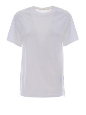 Golden Goose: t-shirts - Side rubberized zip T-shirt