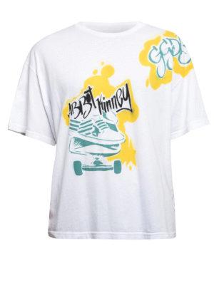 Golden Goose: t-shirts - Skateboard print jersey T-shirt