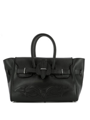Golden Goose: totes bags - Embossed detail leather bag
