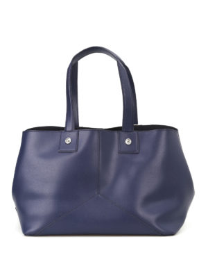 Golden Goose: totes bags - Golden blue smooth leather tote