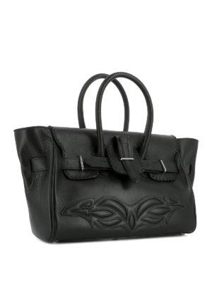 Golden Goose: totes bags online - Embossed detail leather bag