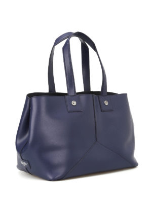 Golden Goose: totes bags online - Golden blue smooth leather tote