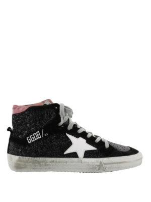 GOLDEN GOOSE: sneakers - Sneaker 2.12 in pelle e glitter